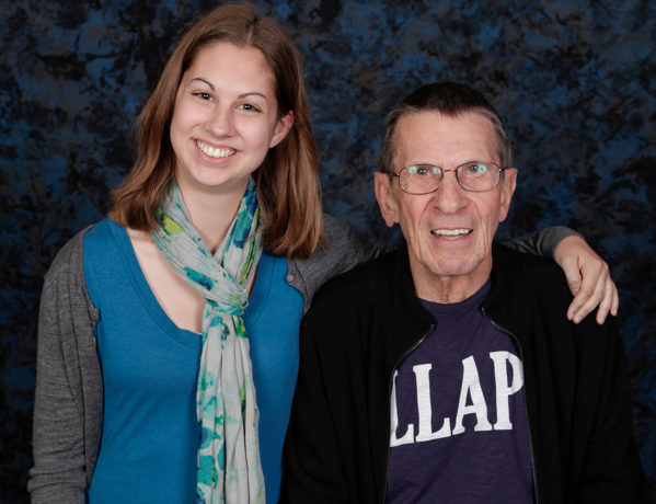 Yes, that is Leonard Nimoy in the picture with me.