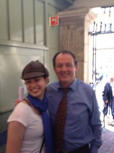 Kevin Whately, who plays Inspector Robbie Lewis, and me.