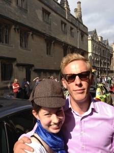 Laurence Fox, who plays Detective Hathaway in Inspector Lewis, and me.