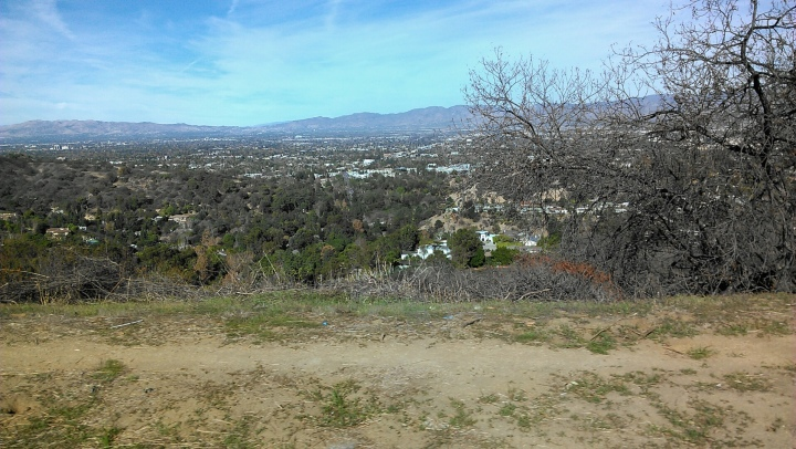 View of Los Angeles from Mulholland Drive