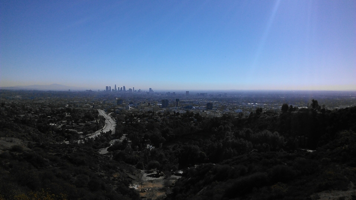 View of Los Angeles from the Mulholland Drive Scenic Overlook